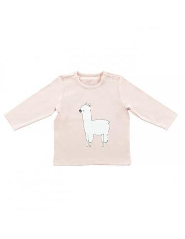 Jollein Shirt lange mouw lama blush pink